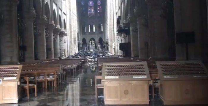 El estremecedor vídeo del interior de Notre Dame tras el incendio