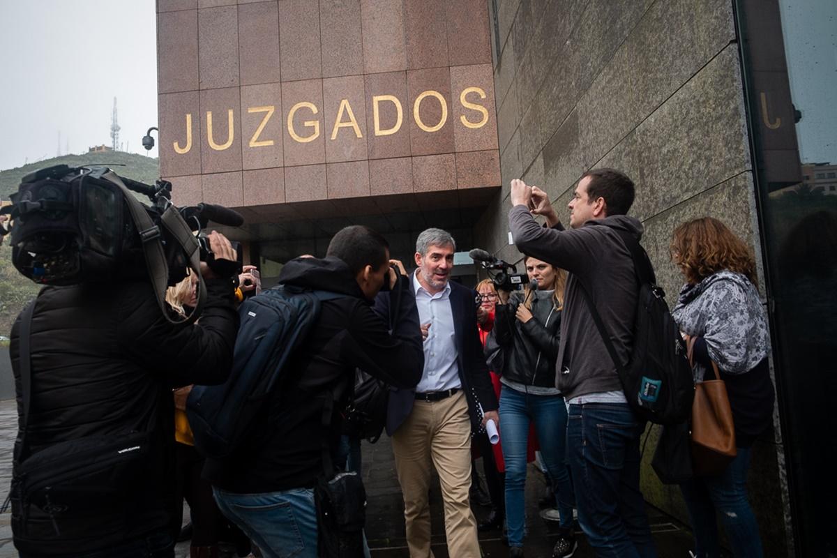 Clavijo declara en los juzgados de La Laguna. Fran Pallero