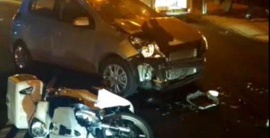 Un motorista herido tras colisionar contra un turismo en Los Llanos