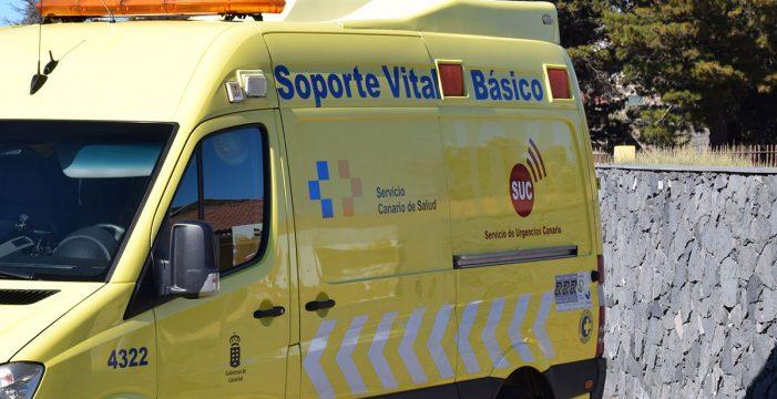Herido por atropello en la carretera, en El Rosario