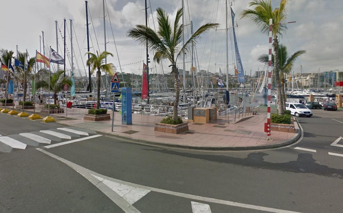 Muelle deportivo de Las Palmas de Gran Canaria. Google