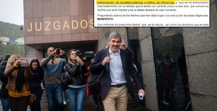 Impacto mediático de la declaración de Clavijo por el caso Grúas y los tres presuntos delitos