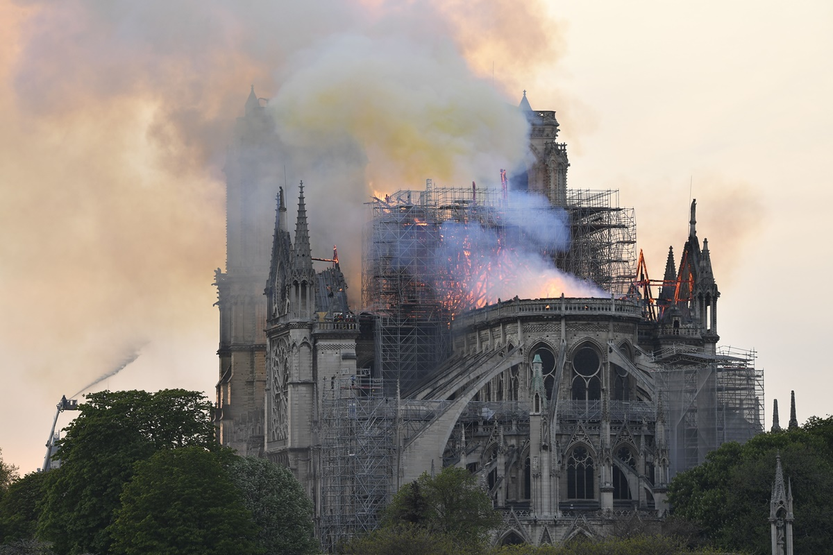 Fire breaks out at Notre Dame Cathedral in Paris