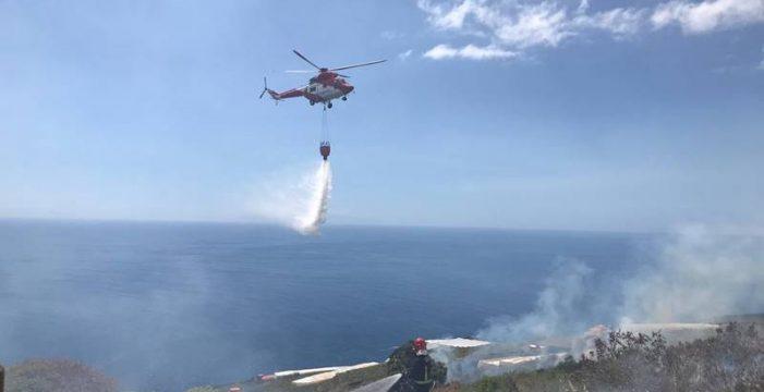 Controlan un conato de incendio en Puntallana