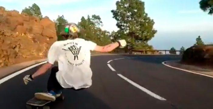 Denuncian esta temeridad en monopatín por las carreteras de Tenerife