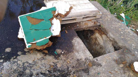 Hilario Rodríguez (NC) advierte del peligro de un pozo abierto en Llano del Moro