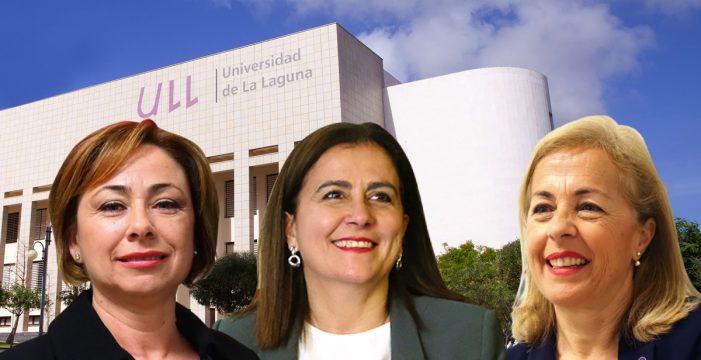 Tres mujeres hacen historia en la Universidad  de La Laguna