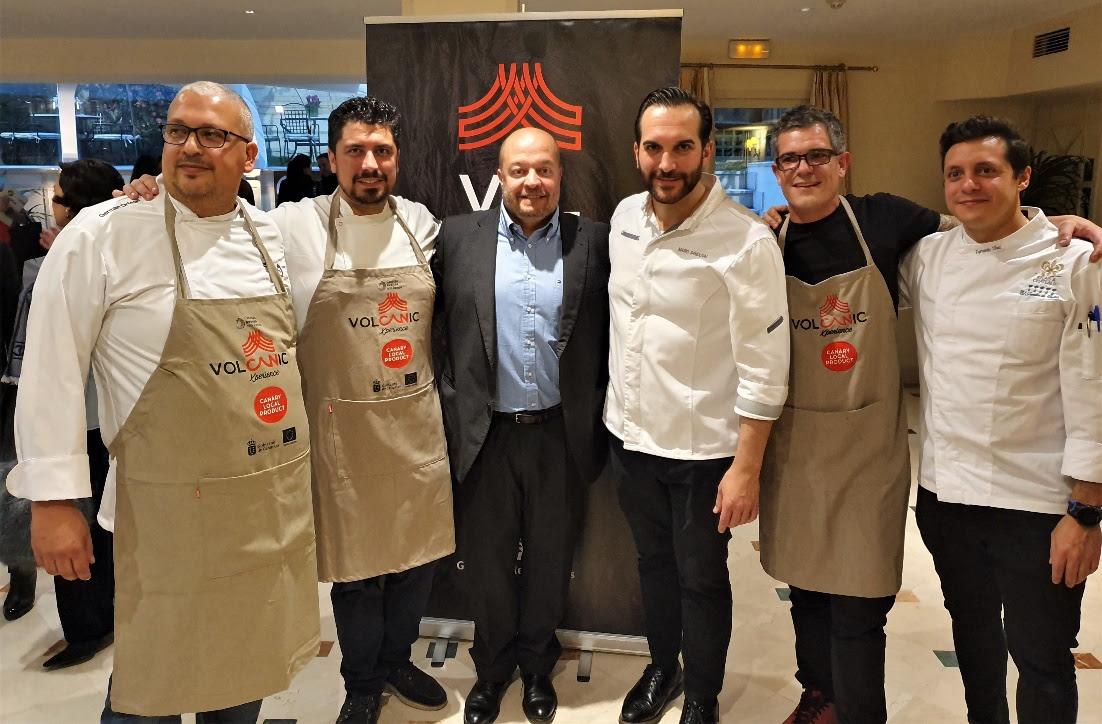 Los chefs Alberto Margallo (San Sebastián 57, Santa Cruz de Tenerife), Germán Ortega (La Aquarela, Gran Canaria) y Joao Faraco (Coentro, Lanzarote). / DA
