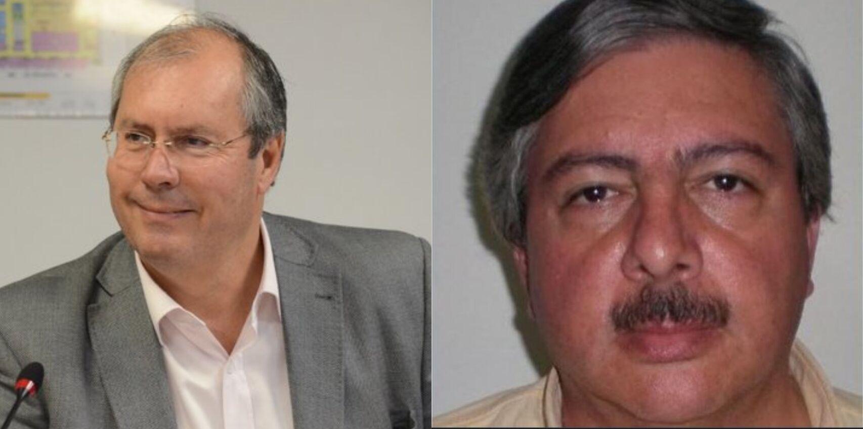 Héctor Olivares (a la izquierda) diputado argentino, y Miguel Marcelo Yadón (derecha) fallecido tras el tiroteo.  E.E.