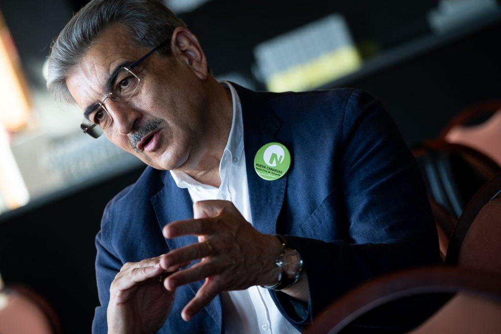 El candidato de Nueva Canarias a la Presidencia del Gobierno de Canarias, Román Rodríguez. Fran Pallero