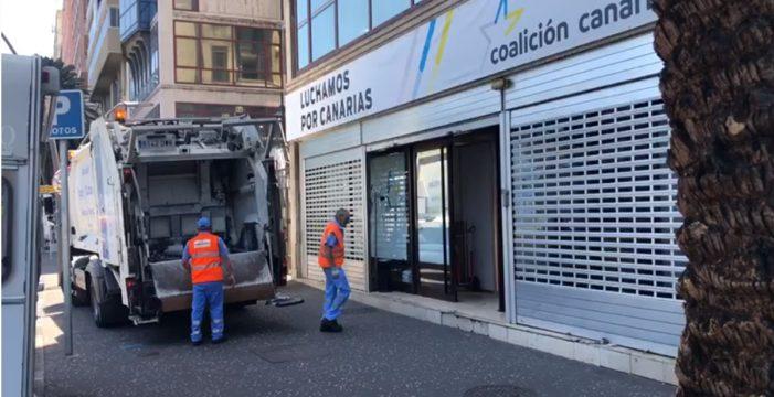 Denuncian que trabajadores municipales limpian la sede de CC