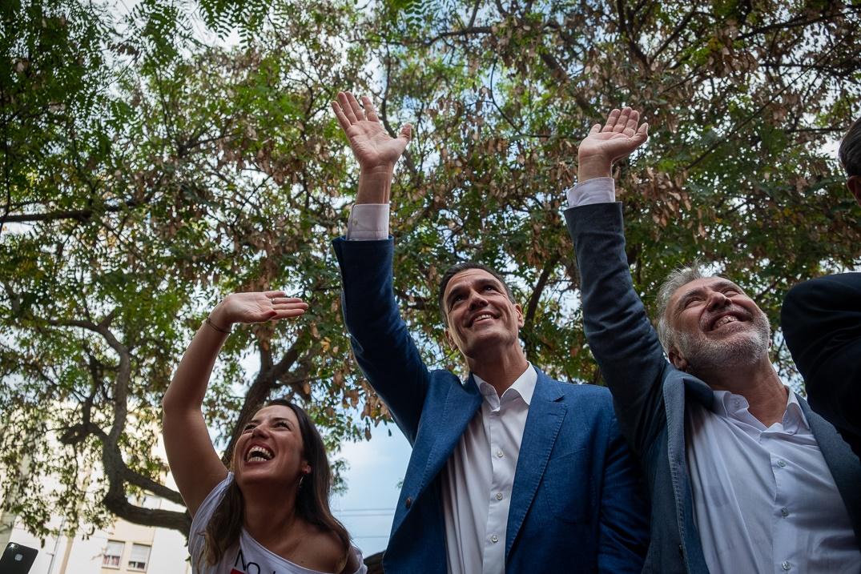Patricia Hernández, Pedro Sánchez y Ángel Víctor Torres. Fran Pallero