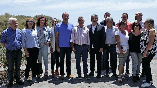 Román Rodríguez, en su visita a Valle Gran Rey, en La Gomera. Canarias Ahora