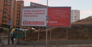 La Junta Electoral Central avala que las vallas de CC contra el PSOE vulneran la transparencia de la campaña