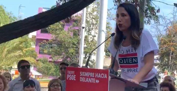 """Patricia Hernández: """"Ningún voto que vaya al PSOE hará alcalde a José Manuel Bermúdez"""""""