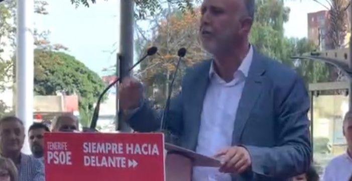 """Ángel Víctor Torres (PSOE) pide el voto para que haya un gobierno que """"no culpe a otros de sus fracasos"""""""