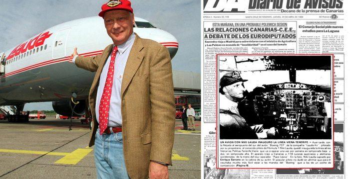 Cuando Niki Lauda pilotó su Boeing 737 hasta Tenerife