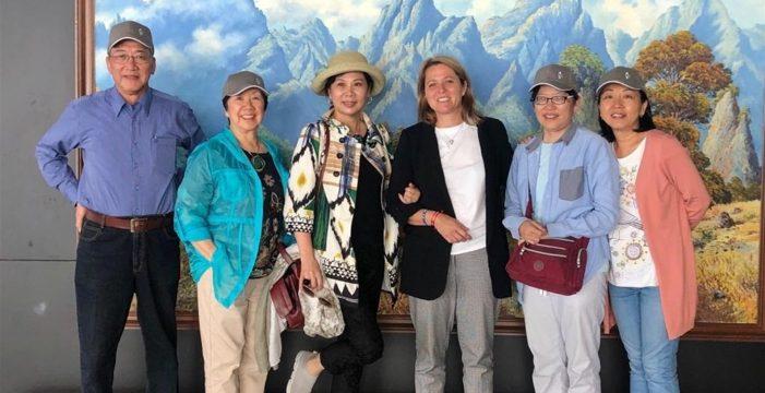 Familiares de Sanmao visitan La Palma para conocer la ruta que lleva su nombre