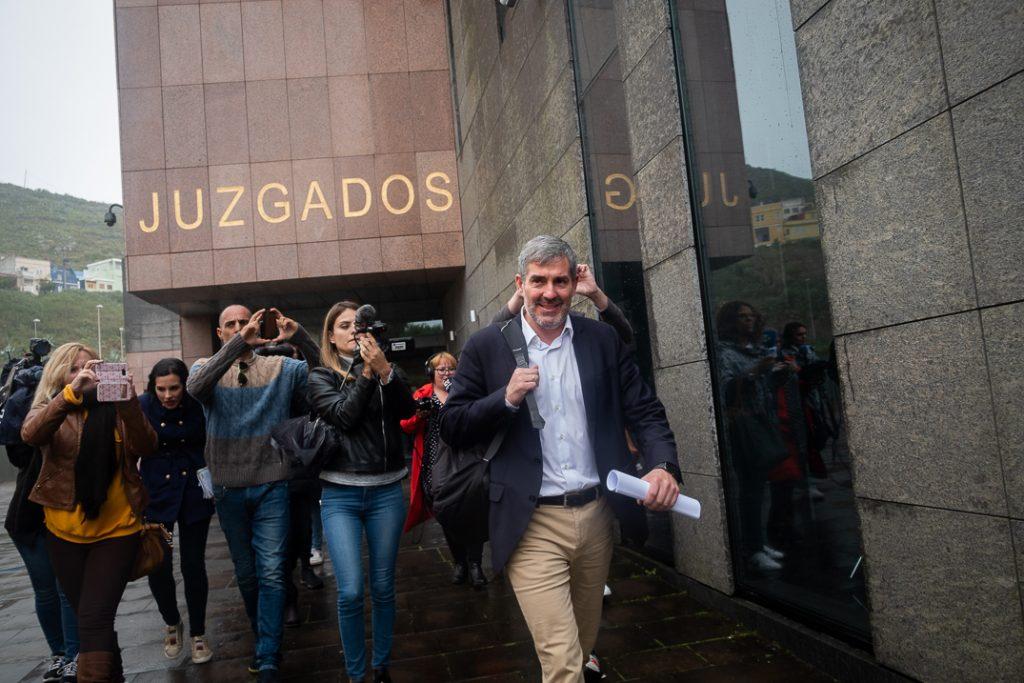 Fernando Clavijo, tras declarar como imputado en el caso Grúas. Fran Pallero