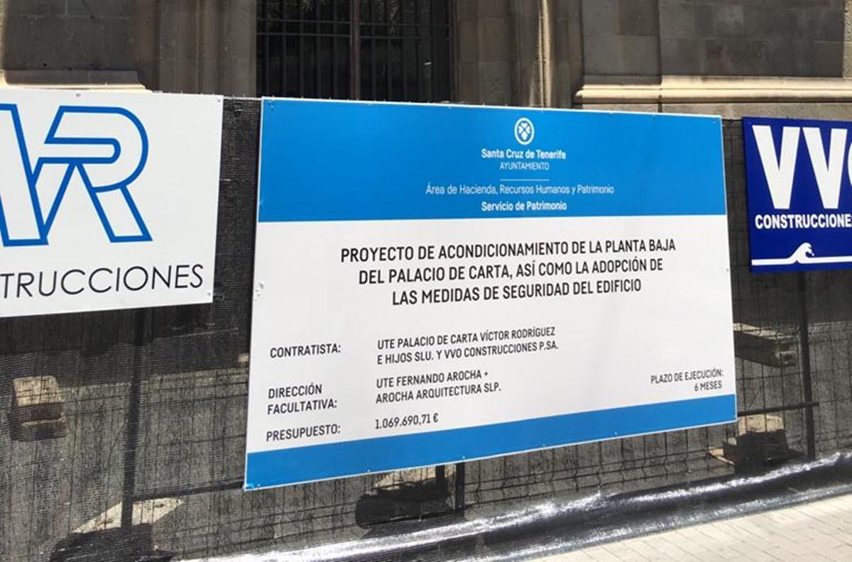 Las obras en el Palacio de Carta darán comienzo de inmediato. DA