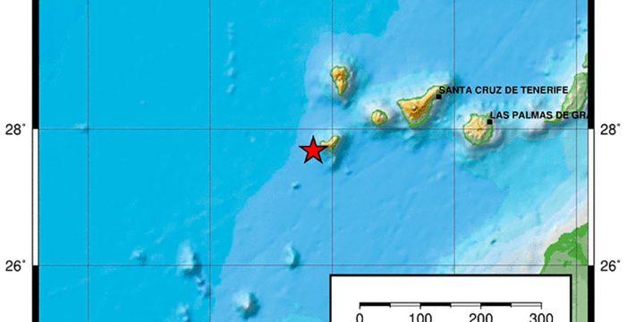 Detectado un terremoto de magnitud 3.5 al oeste de El Hierro