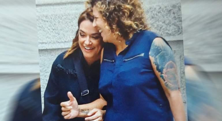 Toñi Moreno y su pareja Rosana. DA