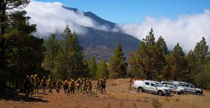 Puesta a punto del dispositivo contra incendios en La Palma
