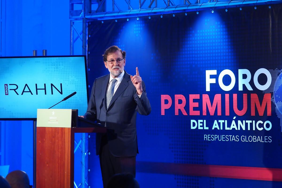 Mariano Rajoy, expresidente del Gobierno de España, durante el Foro Premium de DIARIO DE AVISOS| SERGIO MÉNDEZ