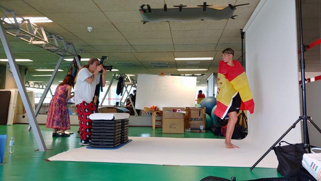 Michelle Alonso, durante la sesión de fotos que ha realizado para el canal japonés Wowow| DA