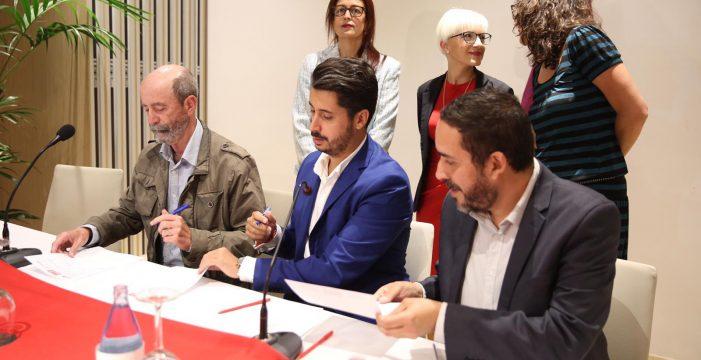 PSOE, Unidas Podemos y Avante formalizan el acuerdo de gobierno en La Laguna