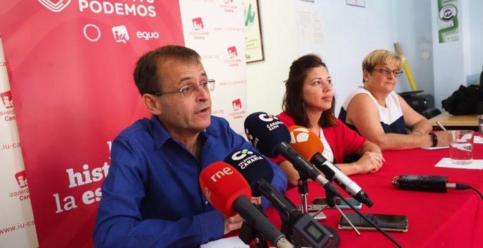 Unidas Podemos garantiza que no cogobernará en Santa Cruz de Tenerife y defiende su acuerdo programático con el PSOE
