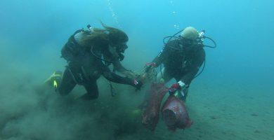 En imágenes: retiran más de 4.000 kilos de basura de los fondos marinos canarios