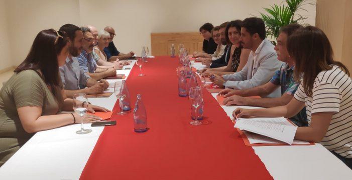 PSOE, Unidas y Avante sientan las bases del pacto de progreso lagunero