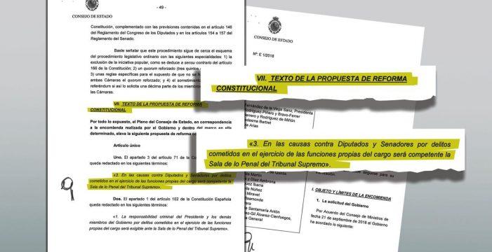 El Consejo de Estado, en contra de aforar en casos como el de Clavijo