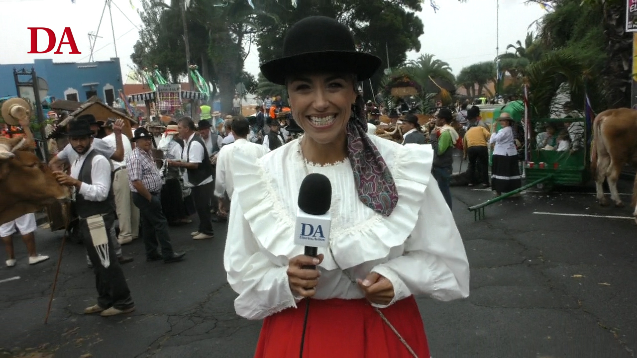 De Romería con Diario de Avisos en El Portezuelo, en Tegueste