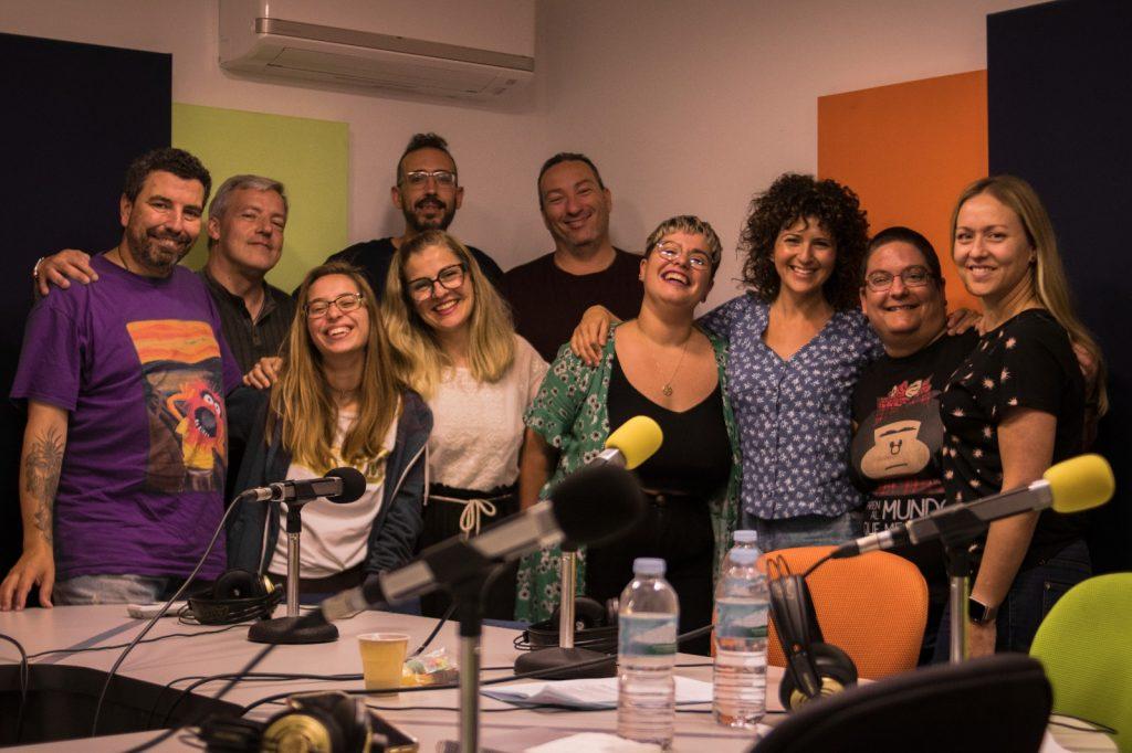 Gran parte del equipo técnico y de contenidos del programa Radio Himalia. David Báez.