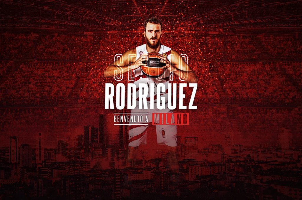 El tinerfeño Sergio Rodríguez jugará tres temporadas en Milán  DA