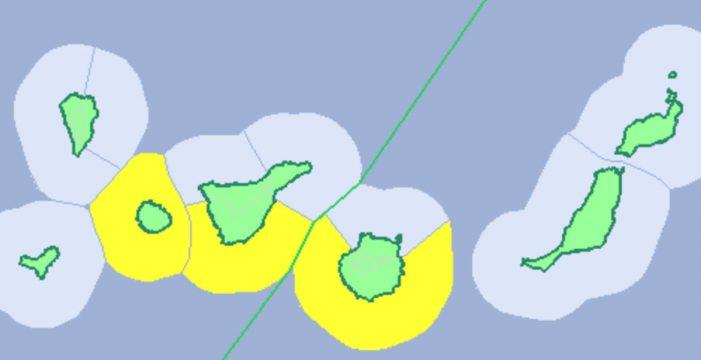 Aviso amarillo por fenómenos costeros en Tenerife, La Gomera y Gran Canaria