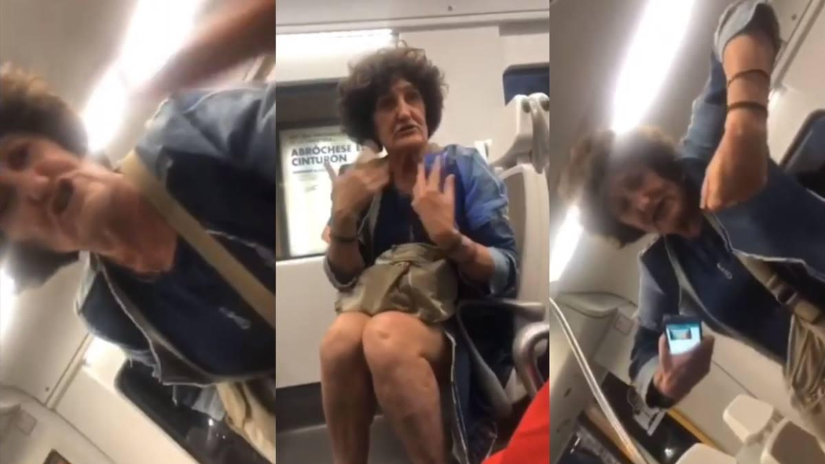 Imágenes extraídas del vídeo difundido por Es Racismo. El Español