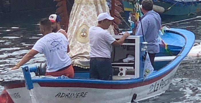 La Virgen Chiquita y San Telmo ya están embarcados