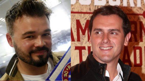 A Albert Rivera le sale un inesperado defensor en las redes sociales: el diputado Rufián
