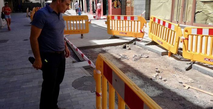 El Gobierno local se reunirá con los empresarios del casco afectados por las obras