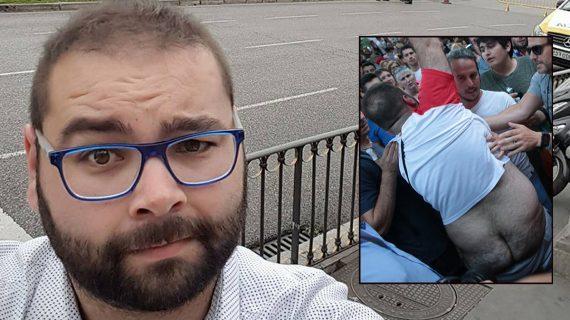 Sergio, el hombre que  le enseñó el culo a los dirigentes de Ciudadanos