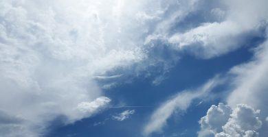 Nubes y lluvias en la provincia de Santa Cruz de Tenerife