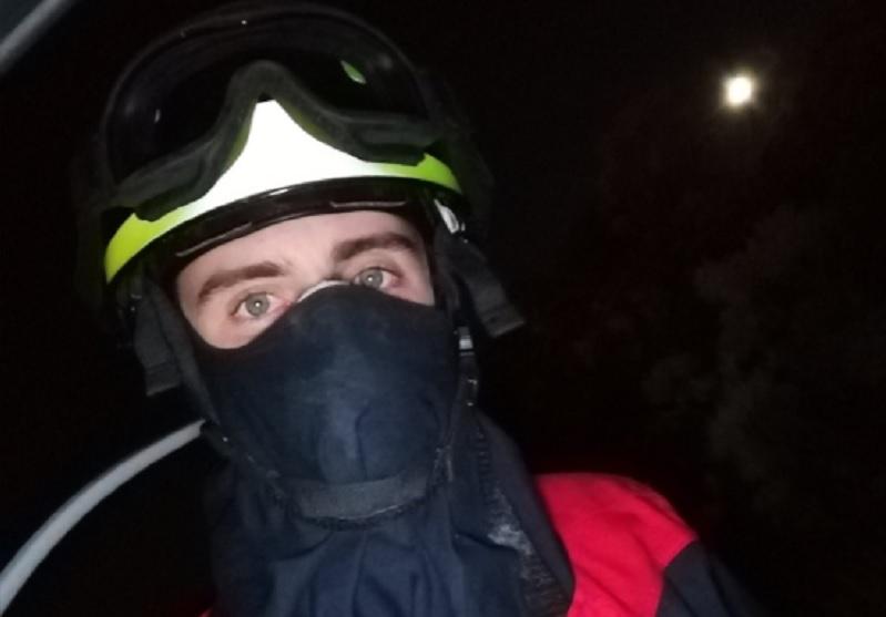 Christian Falcón, voluntario de Protección Civil en los incendios de Gran Canaria / Foto: TWITTER
