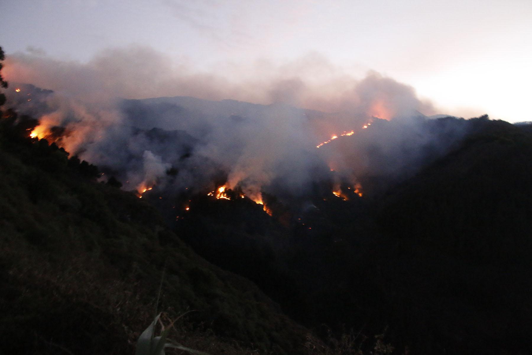 Incendio de Valleseco en la isla de Gran Canaria.