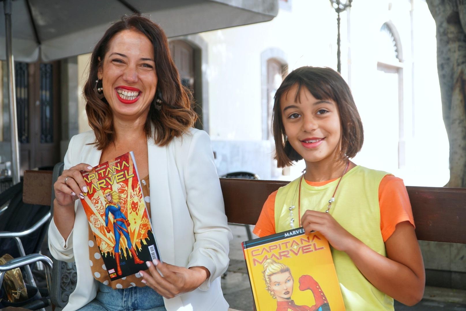 Patricia Hernández y Ágora Hernández, durante el rodaje. DA