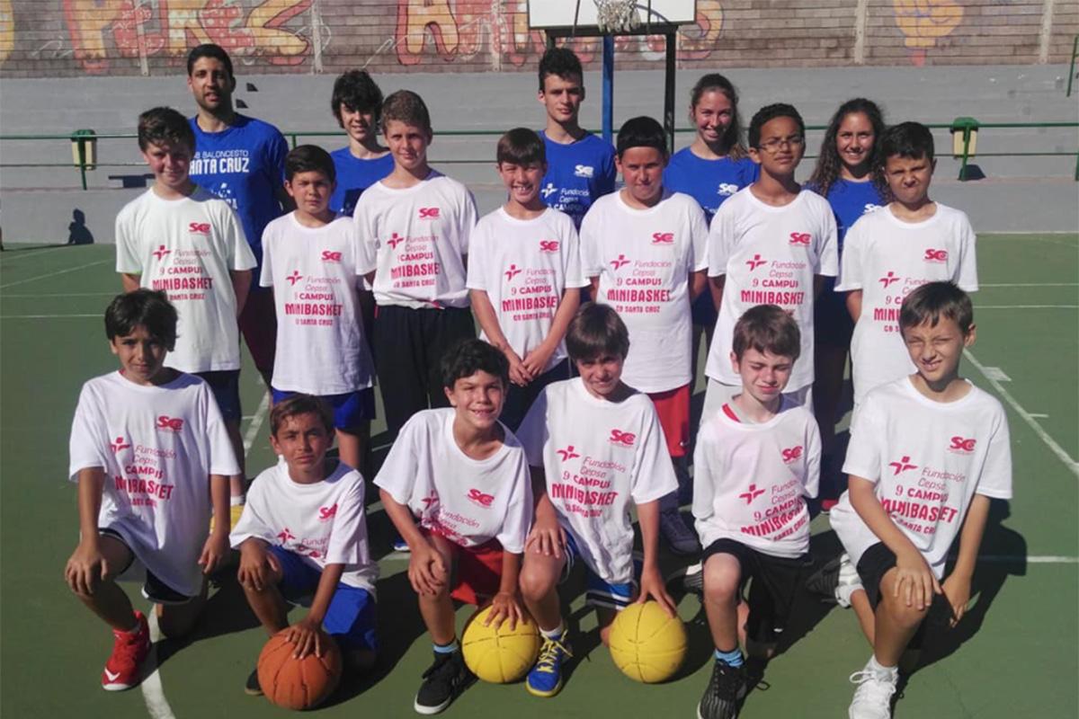 La Fundación Cepsa, motor del minibasket en Santa Cruz de Tenerife