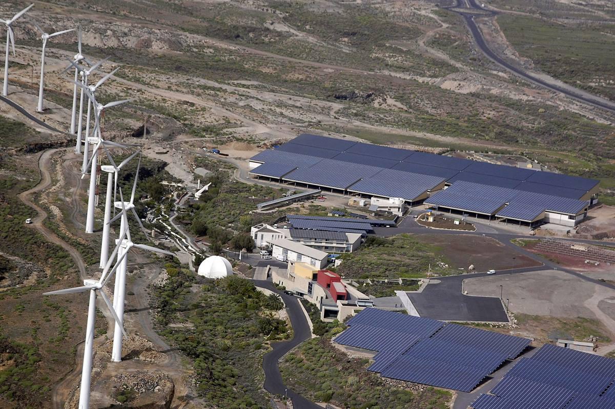 Vista aérea del Instituto Tecnológico de Energías Renovables (ITER) en Granadilla. DA