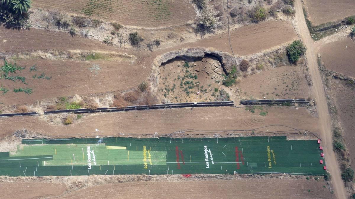 Vista aérea de la rehabilitada pista de aterrizaje de parapente en El Quinto. Airam Rodríguez
